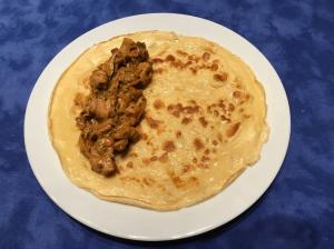 Omelette mit der Füllung
