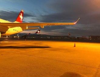 Flughafen ZRH morgens um 07.30