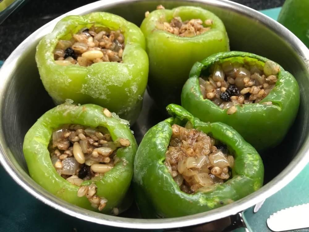 Gefüllte Peperoni in Olivenöl