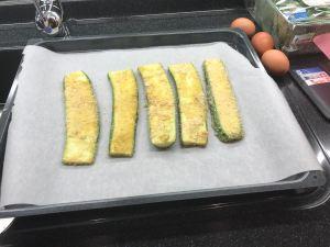 Zucchini kurz im Ofen backen