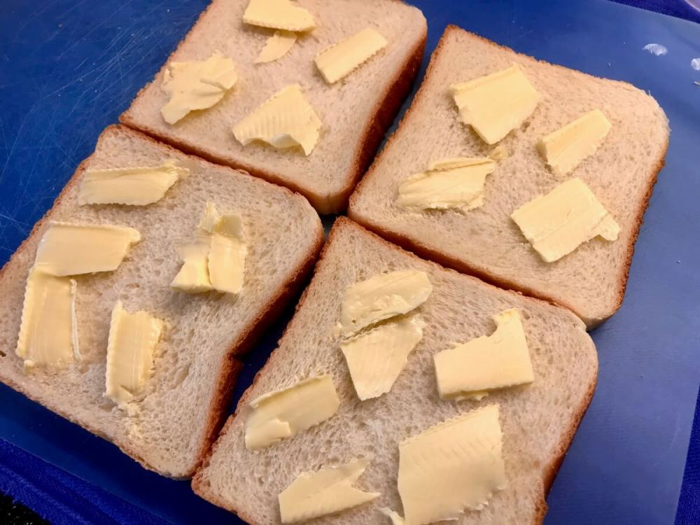 Toastbrot mit Butter
