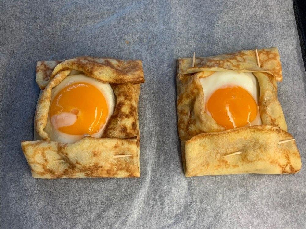 Frühstücks-Crêpes-Päckchen