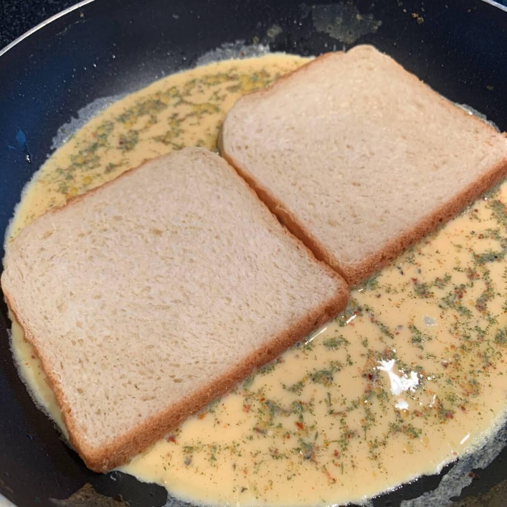 Breakfast-Sandwich Schritt 1